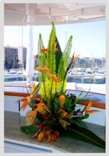 Yacht flowers