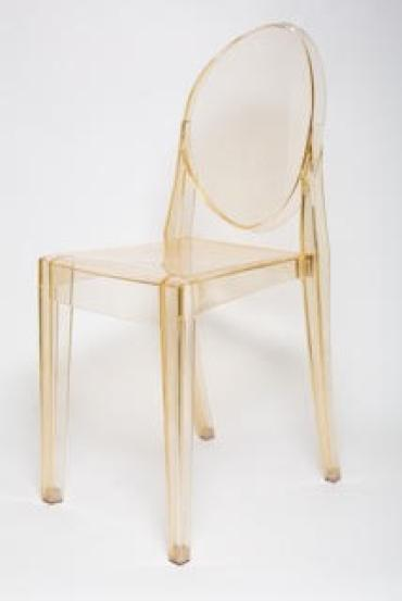 Victorian Ghost Chair Gold Transparent